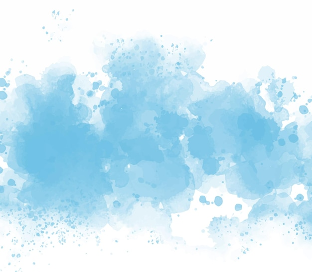 Fondo de acuarela azul abstracto