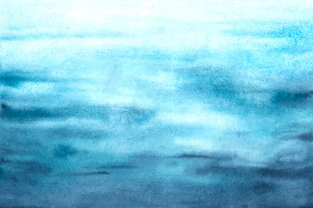 Fondo de acuarela azul océano olas