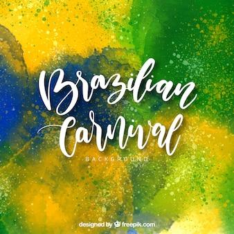 Fondo de acuarela de carnaval brasileño