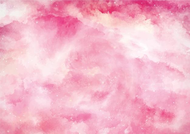 Fondo de acuarela de color rosa