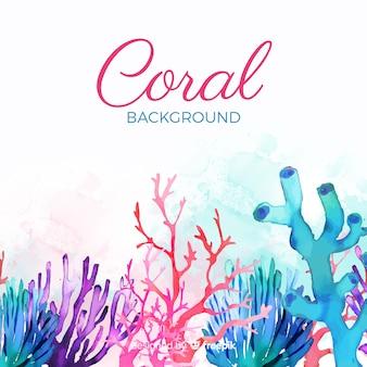 Fondo acuarela colorido coral