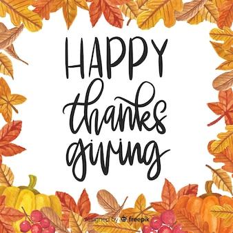 Fondo de acuarela de día de acción de gracias