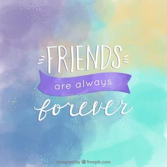 Fondo de acuarela del día de la amistad