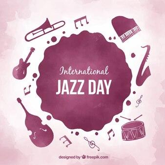 Fondo de acuarela para el día internacional del jazz