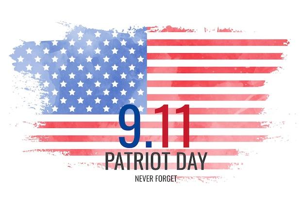 Fondo de acuarela del día del patriota 9.11