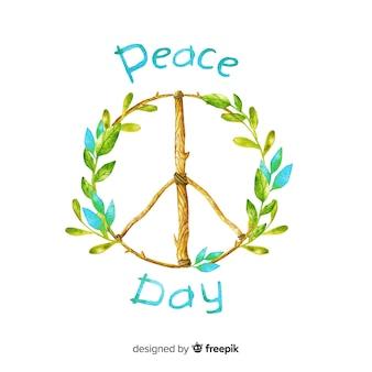 Fondo de acuarela del día de la paz