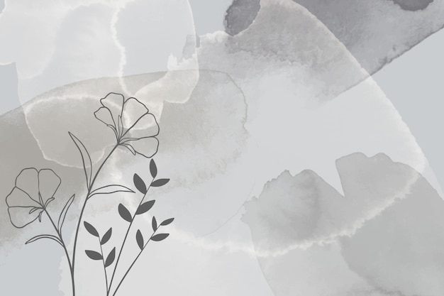 Fondo acuarela dibujado a mano con flores