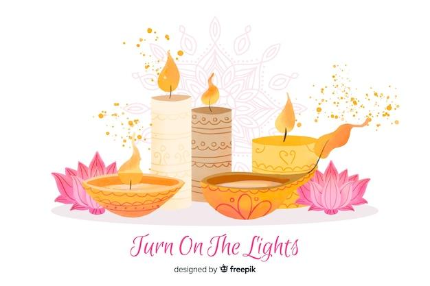 Fondo acuarela diwali