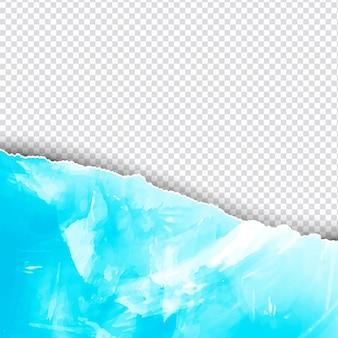 Fondo de acuarela en estilo de papel rasgado azul