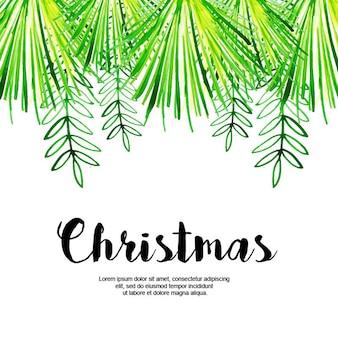Fondo acuarela feliz navidad