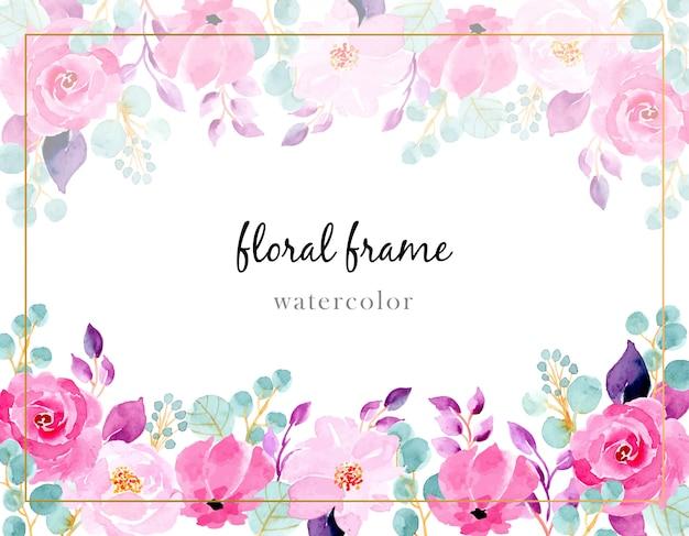 Fondo de acuarela de flor rosa