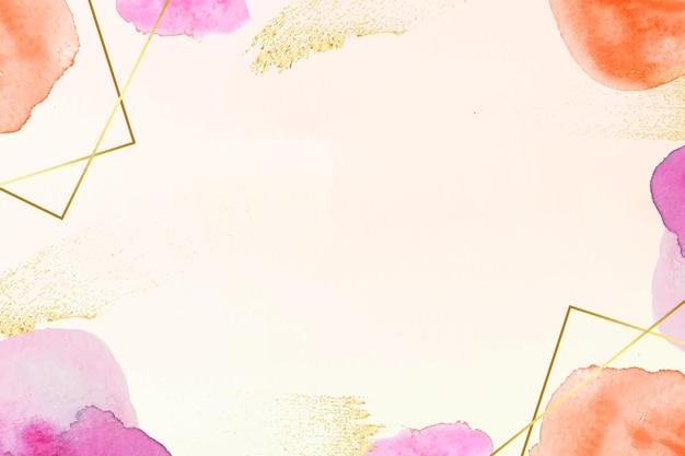 Fondo de acuarela con lámina dorada