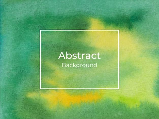 Fondo de acuarela de lujo abstracto verde y amarillo