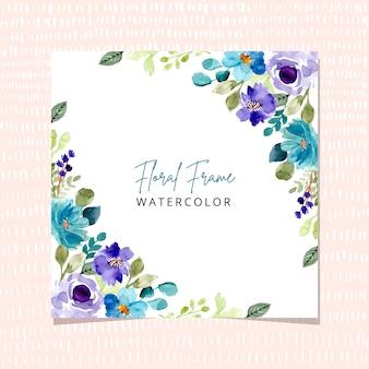 Fondo de acuarela de marco floral multiusos