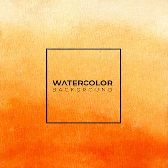 Fondo acuarela naranja abstracto, pintura de la mano.