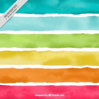 Fondo de la acuarela de rayas de colores