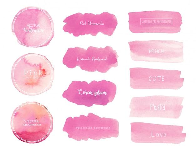Fondo de acuarela rosa.