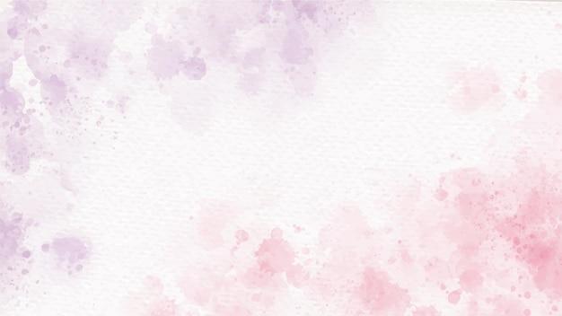 Fondo de acuarela de salpicaduras de lavado húmedo rosa y púrpura