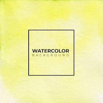 Fondo acuarela de textura amarilla, pintura de la mano.