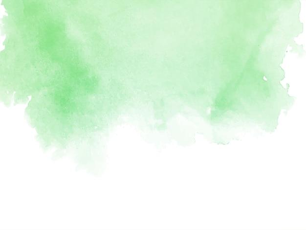 Fondo de acuarela verde abstracto