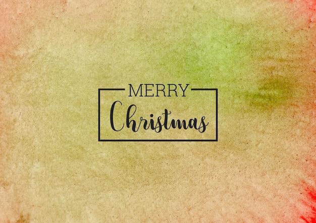 Fondo de acuarela verde y rojo abstracto de navidad