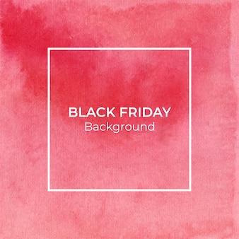 Fondo de acuarela de viernes negro rojo abstracto