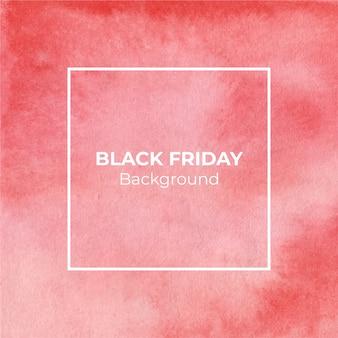 Fondo de acuarela de viernes negro rojo