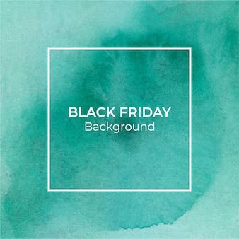 Fondo de acuarela de viernes negro verde abstracto