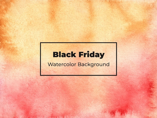 Fondo de acuarela de viernes negro