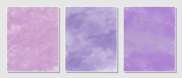 Fondo de acuarelas conjunto minimalista abstracto.