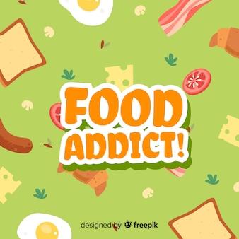 Fondo de adicto a la comida