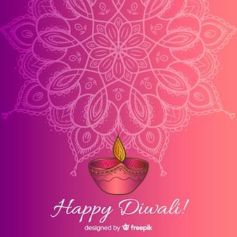 Fondo adorable de diwali dibujado a mano