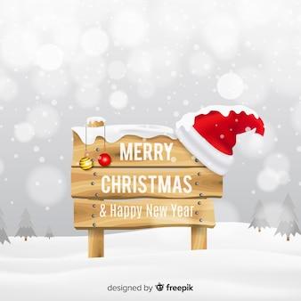 Fondo adorable de navidad con diseño realista