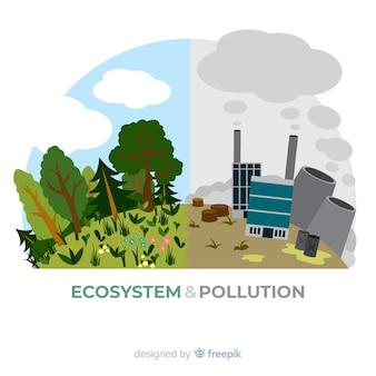 Fondo adorable de ecosistema