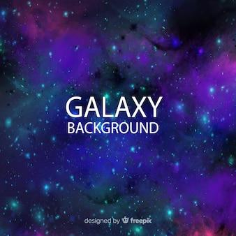 Fondo adorable de galaxia en acuarela