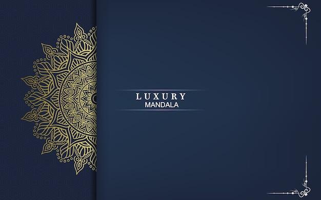 Fondo adornado de mandala de oro de lujo.