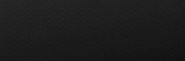 Fondo de adorno de hexágonos geométricos engranajes de carbono negro