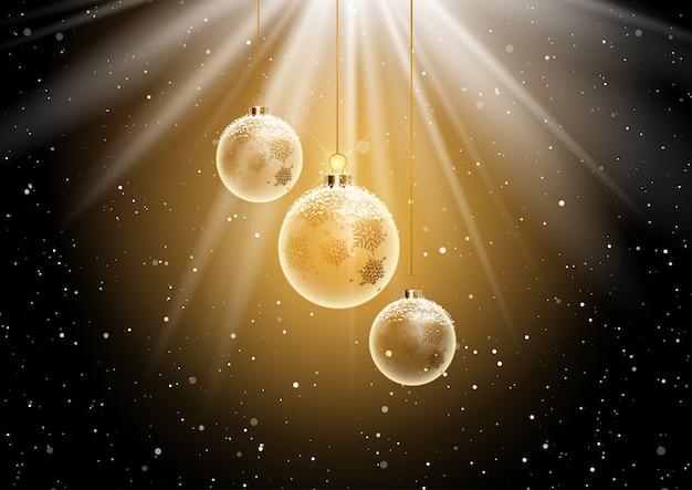 Fondo de adorno de navidad