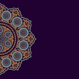 Fondo con adornos redondos de colores étnicos - estilo árabe, islámico y oriental