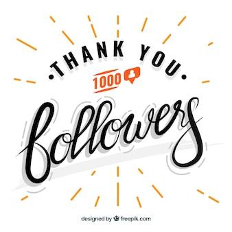 Fondo de agradecimiento de seguidores