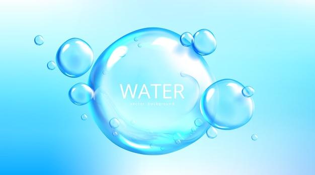 Fondo de agua con esferas de burbujas de aire
