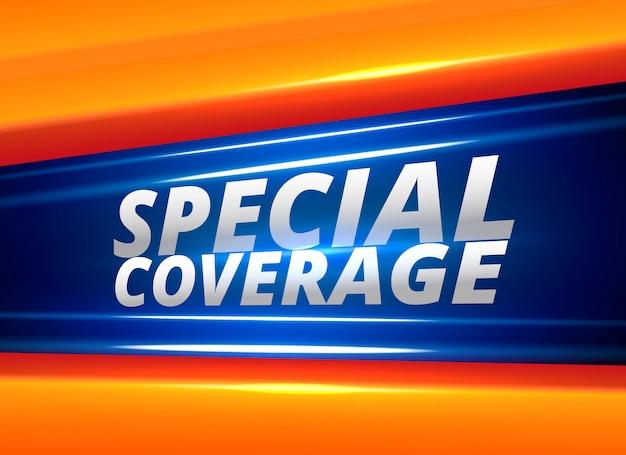 Fondo de alerta de informe de noticias de cobertura especial