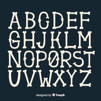 Fondo de alfabeto de halloween