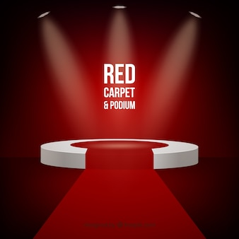 Fondo de alfombra roja en estilo realista