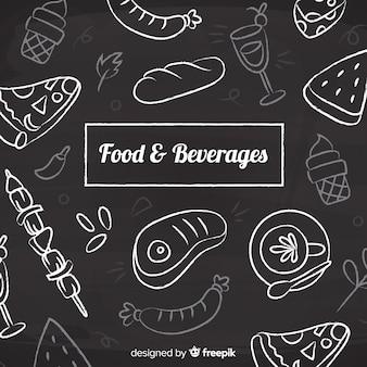 Fondo de alimentos y aperitivos