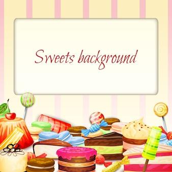 Fondo de alimentos dulces