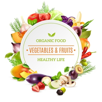 Fondo de alimentos orgánicos naturales