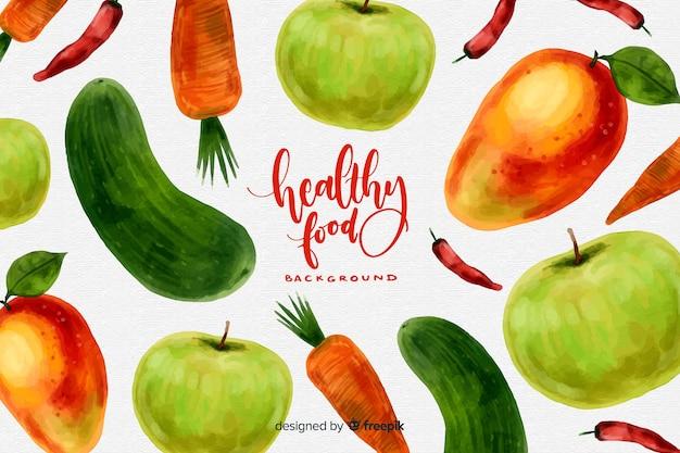 Fondo de alimentos saludables