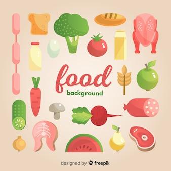 Fondo con alimentos