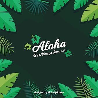 Fondo aloha hojas